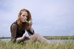 Φυσώντας φυσαλίδες Στοκ Φωτογραφίες