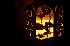 φυτίλι εστίασης διακοσμήσεων Χριστουγέννων κεριών στοκ εικόνα με δικαίωμα ελεύθερης χρήσης