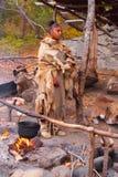 Φυτεία του Πλύμουθ που μαγειρεύει ένα γεύμα Στοκ Εικόνες