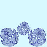 Φυτεψτε σύνορα συρμένων των χέρι λουλουδιών Στοκ φωτογραφίες με δικαίωμα ελεύθερης χρήσης