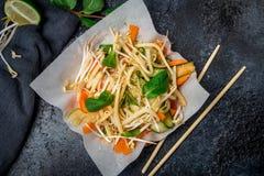Φυτικά βιετναμέζικα τρόφιμα σαλάτας Στοκ φωτογραφία με δικαίωμα ελεύθερης χρήσης