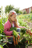 φυτικές εργαζόμενες νεολαίες κοριτσιών κήπων Στοκ Φωτογραφίες