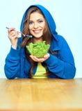 Φυτική έννοια διατροφής κατανάλωση της γυναίκας & Στοκ εικόνες με δικαίωμα ελεύθερης χρήσης