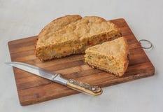 Φυτική πίτα του αλευριού και του τυριού βρωμών Στοκ Εικόνες