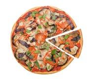 Φυτική πίτσα Στοκ εικόνα με δικαίωμα ελεύθερης χρήσης