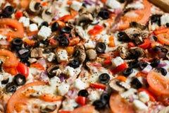Φυτική πίτσα Στοκ Εικόνα
