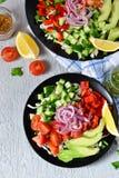 Φυτική σαλάτα με τη σάλτσα αβοκάντο και μουστάρδας Στοκ φωτογραφίες με δικαίωμα ελεύθερης χρήσης