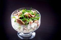 Φυτική σαλάτα με τον κονσερβοποιημένο τόνο Στοκ φωτογραφία με δικαίωμα ελεύθερης χρήσης