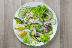 Φυτική σαλάτα με το αβοκάντο Στοκ Εικόνες
