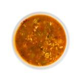 Φυτική σούπα ρυζιού κοτόπουλου Zesty στοκ εικόνες