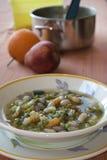 Φυτική σούπα minestrone Στοκ Εικόνες