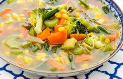 Φυτική σούπα minestrone Στοκ εικόνα με δικαίωμα ελεύθερης χρήσης