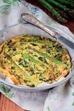 Φυτική φωτογραφία αποθεμάτων συνταγών Frittata ιταλική στοκ εικόνα