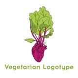 Φυτικό σχέδιο προτύπων εικονιδίων λογότυπων καρδιών παντζαριών Πορφυρό λογότυπο εικονιδίων τεύτλων Φρέσκια χορτοφάγος έννοια Χορτ Στοκ φωτογραφία με δικαίωμα ελεύθερης χρήσης