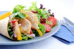 Φυτικό burrito με το κοτόπουλο και τα μαχαιροπήρουνα Στοκ φωτογραφία με δικαίωμα ελεύθερης χρήσης