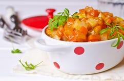 Φυτικό stew με τη σάλτσα στοκ φωτογραφία με δικαίωμα ελεύθερης χρήσης
