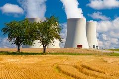 Φυτό πυρηνικής ενέργειας σε Temelin, Δημοκρατία της Τσεχίας Στοκ Φωτογραφίες