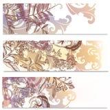 Φυλλάδια που τίθενται με τα λουλούδια Στοκ Εικόνες