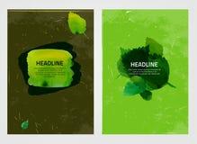 Φυλλάδια eco Watercolour Στοκ Εικόνες