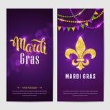 Φυλλάδια gras της Mardi Στοκ Εικόνες