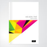 Φυλλάδιο, έκθεση, πρότυπο σχεδίου καταλόγων Στοκ Εικόνα