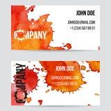 Φυλλάδιο ή επαγγελματική κάρτα σχεδίου με τους λεκέδες Στοκ εικόνες με δικαίωμα ελεύθερης χρήσης