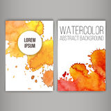 Φυλλάδιο ή επαγγελματική κάρτα σχεδίου με τους λεκέδες Στοκ Εικόνες