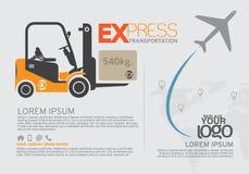 Φυλλάδιο μεταφορών και πρότυπο σχεδίου φυλλάδιων Διανυσματική απεικόνιση