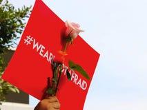 Φυλλάδιο με την επιστολή Hashtag Στοκ Εικόνα