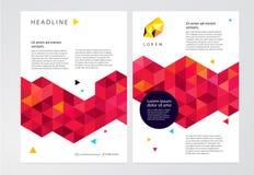 Φυλλάδιο προτύπων, φυλλάδιο, αφίσα Στοκ Εικόνες