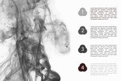 Φυλλάδιο πληροφοριών με το υπόβαθρο καπνού Στοκ φωτογραφίες με δικαίωμα ελεύθερης χρήσης