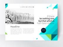 Φυλλάδιο, φυλλάδιο, περιοδικό που διαδίδεται, πρότυπο αφισών Στοκ φωτογραφία με δικαίωμα ελεύθερης χρήσης
