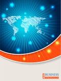Φυλλάδιο χαρτών με το πορτοκαλί κύμα Στοκ Εικόνα