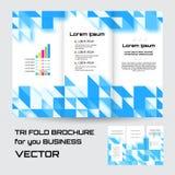 Φυλλάδιων φακέλλων φυλλάδιων γεωμετρικό τριγώνων ρόμβων αφηρημένο υπόβαθρο χρώματος στοιχείων μπλε διανυσματική απεικόνιση