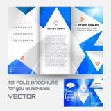 Φυλλάδιων φακέλλων φυλλάδιων γεωμετρικό τριγώνων ρόμβων αφηρημένο υπόβαθρο χρώματος στοιχείων μπλε ελεύθερη απεικόνιση δικαιώματος