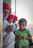 Φυλέτες και κορίτσι Rabari στοκ εικόνα με δικαίωμα ελεύθερης χρήσης