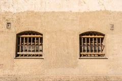 Φυλακή με τους φραγμούς στα παράθυρα Στοκ Φωτογραφία