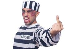 Φυλακισμένος με τους κακούς μώλωπες στοκ φωτογραφία