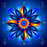 Φυλακτό Mandala της κοσμικής ενεργειακής θεραπείας Στοκ Εικόνα