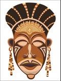 Φυλετική εθνική μάσκα των αφρικανικών γυναικών διανυσματική απεικόνιση