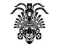 Φυλετική δερματοστιξία των Μάγια Mack διανυσματική απεικόνιση