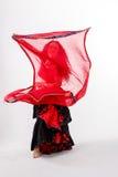 Φυλετικός χορευτής με το κόκκινο σάλι Στοκ εικόνα με δικαίωμα ελεύθερης χρήσης