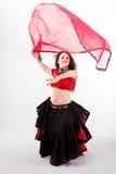 Φυλετικός χορευτής με το σάλι Στοκ φωτογραφία με δικαίωμα ελεύθερης χρήσης