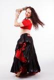 Φυλετικός χορευτής στο κόκκινο Στοκ Εικόνες