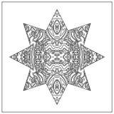 Φυλετικός χρωματισμός zentangle Στοκ Εικόνα