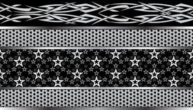 Φυλετικό άνευ ραφής σχέδιο αστεριών Στοκ Εικόνα