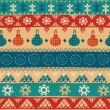 Φυλετικό άνευ ραφής σχέδιο Χριστουγέννων Στοκ Εικόνες