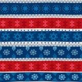 Φυλετικό άνευ ραφής σχέδιο Χριστουγέννων Στοκ εικόνα με δικαίωμα ελεύθερης χρήσης