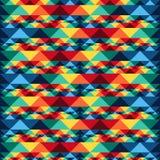 Φυλετικό αφηρημένο άνευ ραφής σχέδιο αζτέκικα γεωμετρικά Στοκ Εικόνες