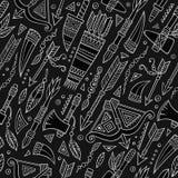 Φυλετικό αφηρημένο εγγενές άνευ ραφής σχέδιο πινάκων κιμωλίας Στοκ φωτογραφίες με δικαίωμα ελεύθερης χρήσης